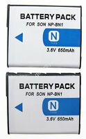 2 Battery Pack For Sony Cyber-shot Dsc-t99 Dsc-t110 Dsc-tx100v Digital Camera