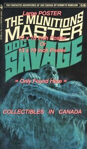 DOC-SAVAGE-1971-58-Munitions-Master-ICE-POSTER-Not-Book-2-SIZES-18-034-or-19-034