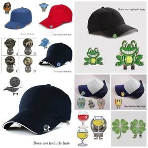 16-Styles-Magnetic-Golf-Ball-Marker-Magnetic-Hat-Clip-Clamp-One-Putt-4-Leaf-Frog