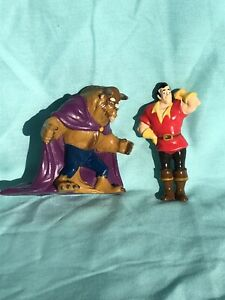 Disney Beauty and the Beast Gaston and Beast PVC Figures Applause