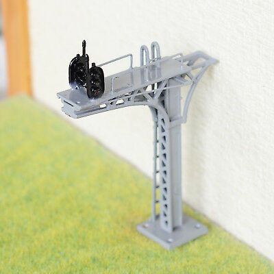1 x HO //OO gray cantilever block signal bridge tower LED 2 Track 2 direction #22