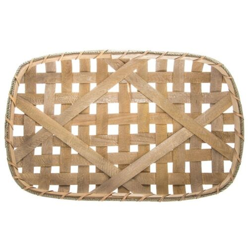 """Large Tobacco Basket 24/"""" Country Farmhouse Cabin Rustic Home Decor"""