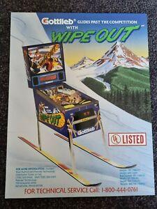 Wipe Out - Gottlieb Pinball ORIGINAL Advertising Promo Flyer - last one