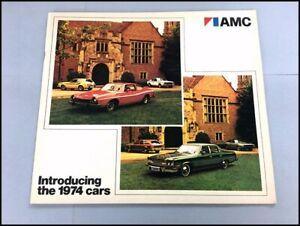 1974 AMC 32-page Car Sales Brochure Catalog - Matador Hornet Gremlin AMX Javelin