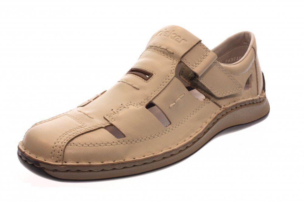 Rieker señores semi zapato Slipper mascarpone (beige) 05284-60