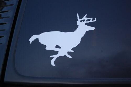 Bow Hunt Buck Hunting Choose Color/&Size! V277 Running Deer Vinyl Sticker Decal