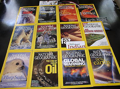 12 NATIONAL GEOGRAPHIC MAGAZINE COMPLETE SET 2004 ~ INCLUDES ALL SUPPLEMENTS