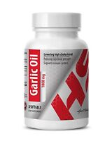 Garlic Cloves - 1000mg Garlic Oil - Enhances Cardiovascular Health - 1 Bot 30 Ct