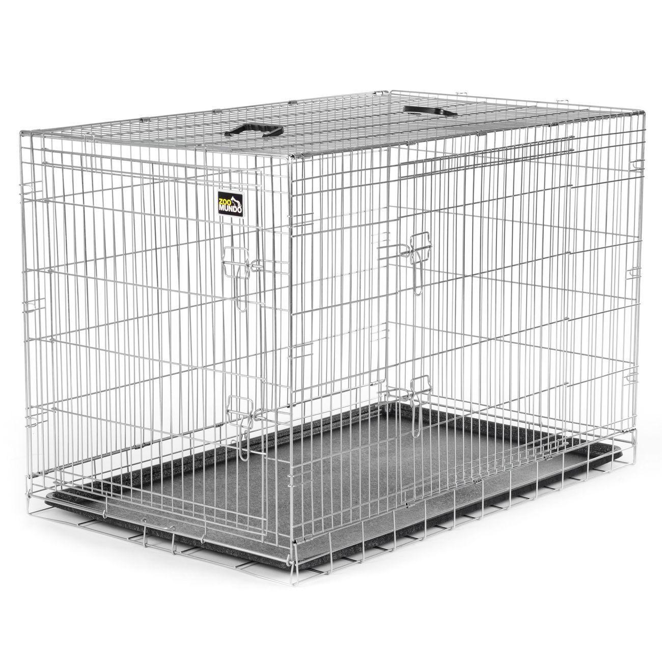 Jaula para Mascotas para Perros Gatos Plegable Transporte de Animales Metal XXL