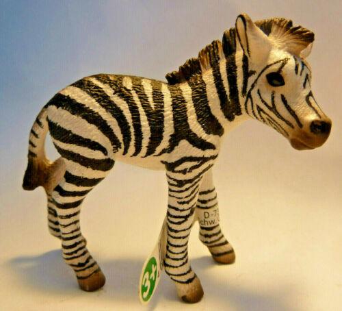 SCHLEICH 9-19-4 14393 Zebra Poulain alt Schleichtier Schleichtiere Afika