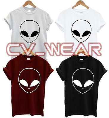 Alien Face UFO Pocket Logo T SHIRT Blogger Swag Fashion Hate Science Space Tee