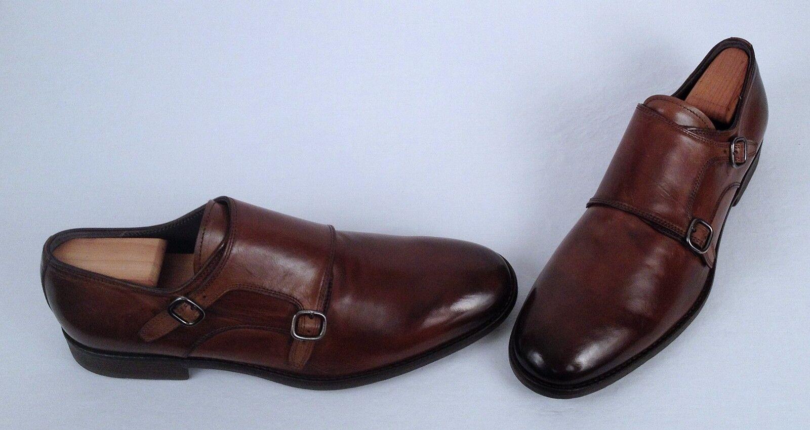 To Stiefel New York York York Double Monk Strap Loafer- braun- Größe 11 M  425 (C32) f0dbf3