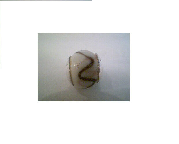 New Truth Sterling Silver Glass White /brown Charm 445404 £20