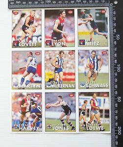 VINTAGE 1996 AFL CENTENARY TEAM PROMO HERALD SUN FOOTBALL STICKER SHEET