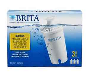 dc4b7be3634 Image is loading Brita-Water-Pitcher-Replacement-Filters-White-3-ea