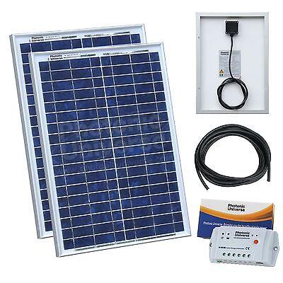 Nouveau 20 W PV Panneau Solaire C//W 90 cm Câble De Chargement Top 12 V Système de batterie CE Royaume-Uni
