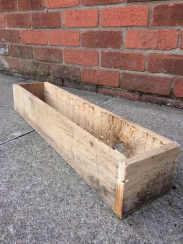 flower pot tray rustic wood x2