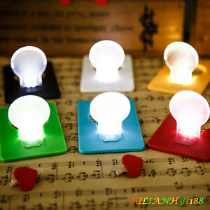 1pcs new slice cute pocket wallet credit card size led night light lamp bulbs hy ebay. Black Bedroom Furniture Sets. Home Design Ideas