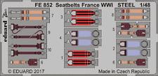EDUARD ZOOM FE852 WWI France Seatbelts in 1:48