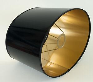 Lampenschirm-Elegant-Hochwertig-Xl-Lack-Oval-E27-Metall-Effekt-Steh-Tisch-Lampe