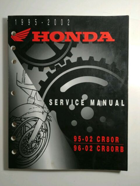 Honda Service Manual Cr80r And Cr80rb Factory Service
