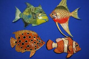 Details About 4 Realistic Coral Reef Wall Decor 3d Tropical Fish Wall Hangings 6 Inch Each