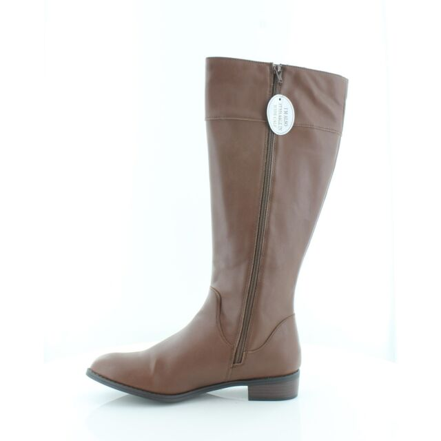 Karen Scott Womens Deliee Round Toe Knee High Riding Boots, cognac, Size 9.5 eQs