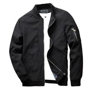Men-Slim-Fit-Lightweight-Flight-Bomber-Jacket-Coat-Sportswear-Zip-Up-Windbreaker