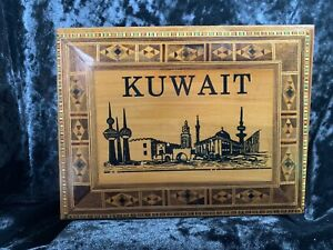 Kuwait-Wood-Trinket-Box-with-Wood-Faux-Inlaid-Design-Hinged-7-1-4-X-5-1-2