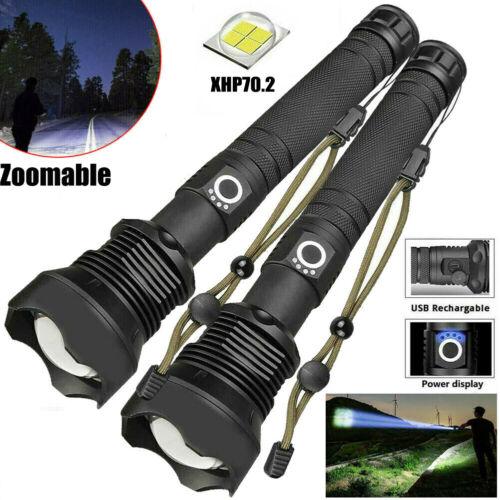 990000 Lumens Taschenlampe Zoombar XHP70.2 Super hell LED Wiederaufladbar Licht