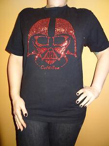Star-Wars-Darth-Vader-Red-Studs-2007-Marc-Ecko-Cut-amp-Sem-Black-T-shirt-Sz-M-Rare