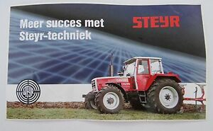 Promotional Stickers Steyr 8130 Turbo Tractor Tug all-Wheel Farm Machinery Puch