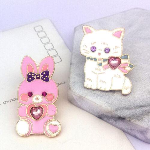 Japanese Soft Sister Bunny Cat Brooch Enamel Brooches Women Fashion Lapel Pin