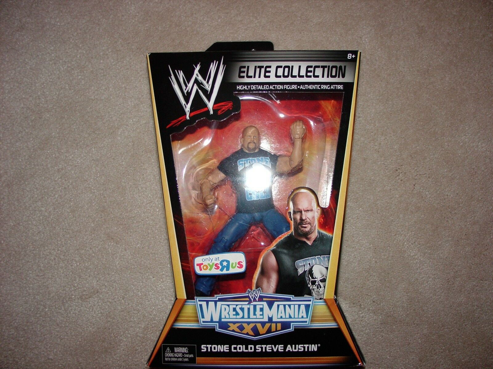 WWE Mattel Elite Wrestlemania 27 TRU Exclusive Stone Cold Steve Austin Figure