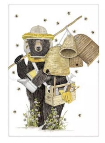 Thompson New Flour Sack Kitchen Dish Towel Beekeeper Bear Mary Lake