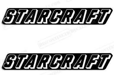 """MARINE GRADE PAIR OF 4.5/""""X28/"""" STARCRAFT BOAT HULL DECALS YOUR COLOR CHOICE 152"""