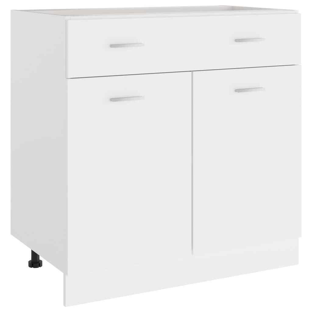 vidaXL Armario de Cocina de Aglomerado Blanco 80x46x81,5 cm Mobiliario Muebles