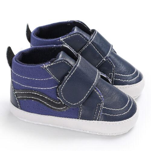 UK Newborn Baby Girl Boy Crib Shoes Pram Soft Sole Prewalker Anti-slip Sneakers