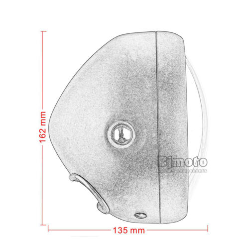 "6.5/"" Motorcycle LED HeadLight Headlamp For Bobber Motorbikes Cafe Racer Cruiser"