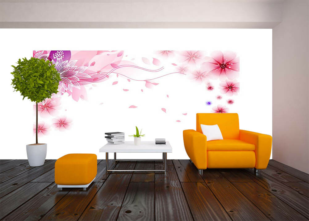 Flowers Like Stars 3D Full Wall Mural Photo Wallpaper Printing Home Kids Decor