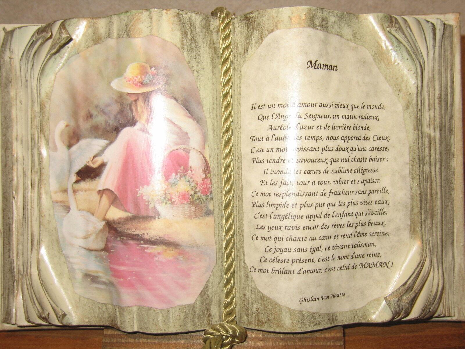 NEW Cadre Livre MAMAN H.20cm L.30cm Ghislain Van Houtte