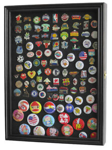 Wall shadow box cabinet for lapel pin patches medal display case image is loading wall shadow box cabinet for lapel pin patches planetlyrics Gallery