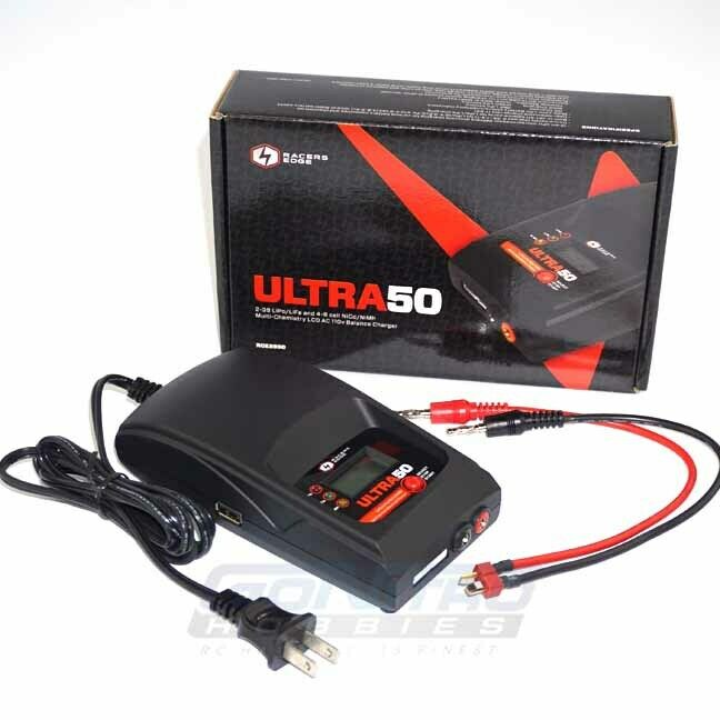 NEW Racers Edge Ultra 50 LiPo/LiFe/NiCd/NiMH AC Charger W/USB FREE US SHIPPING