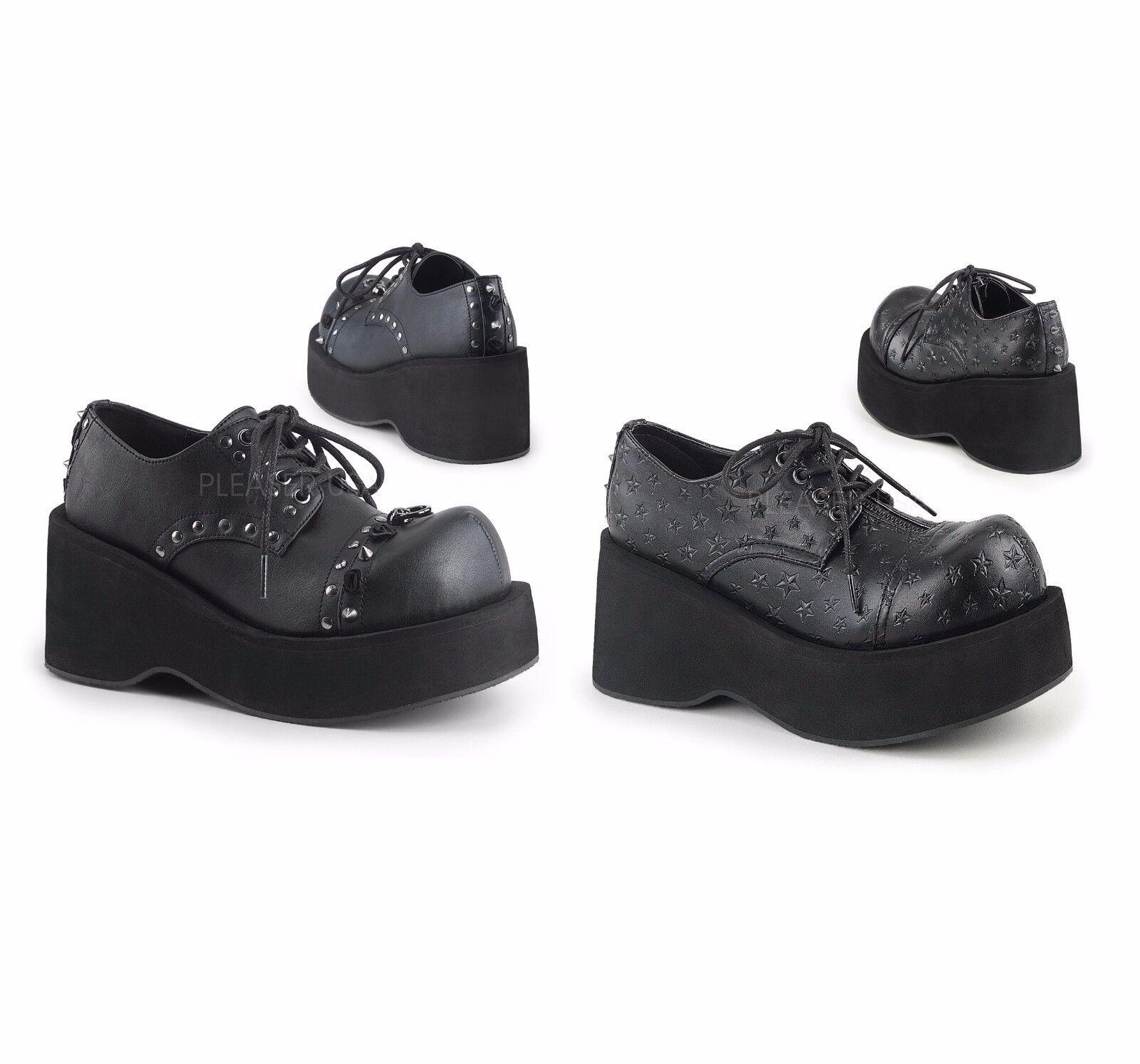 Demonia DANK 111 Schuhe Up Damenschuhe Platform Lace Up Schuhe Oxford Schuhe ... 87c742