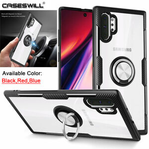 For-Samsung-Galaxy-Note-10-S10-Plus-S10e-Case-Shockproof-Clear-Ring-Stand-Cover