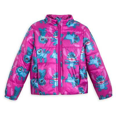 Blue Disney Stitch Varsity Jacket for Kids