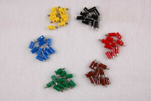 Pieces-23-25-CT-Plug-round-2-6mm-with-Transverse-Hole-60-Pieces-Sorted-New