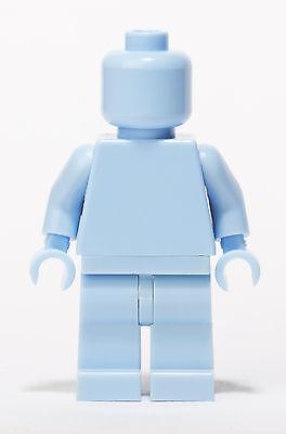 Lego Plain Bright Light Blue Monochrome Minifigure