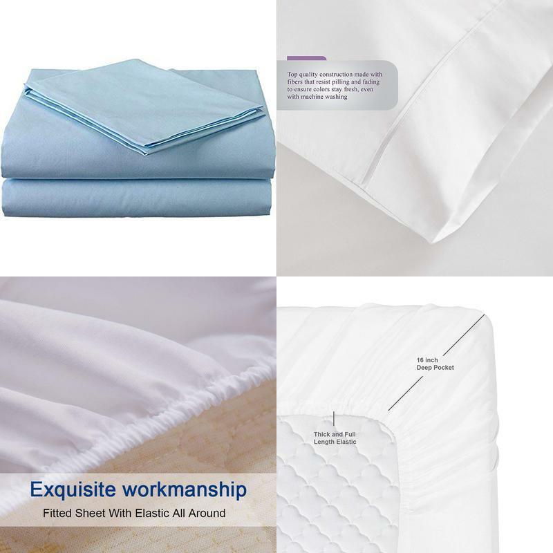 400 Thread Count Luxurious 100% Egyptian Cotton Set Of 4 Short Queen 60