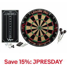 Viper League Pro Sisal Dartboard Starter Kit with Steel Tip Darts & Scoreboard